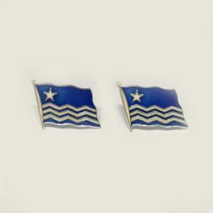 Risørflagget mansjettknapper